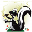 Smoking Skunk — Stock Vector