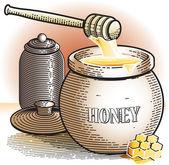 Honey Pot — Stock Vector