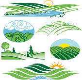 Rolling Green Hills — Stock Vector