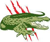 Savage Gator — Stock Vector