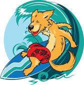 Surfer hond — Stockvector