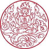 Cachet oriental ancien — Vecteur