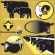 Cattle Clip Art — Stock Vector