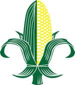 Corn Fleur-de-lis — Stock Vector