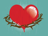 Heart with Thorns — Stock Vector