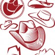 Cowboy Hat Collection — Stock Vector #33911773