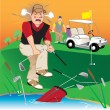 Angry Golfer — Stock Vector