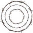Barbed Wire Rings — Vector de stock