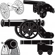 Stock Vector: Cannon Collection