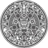 Aztec Mandala — Stock Vector