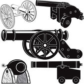 Cannon Collection — Stock Vector