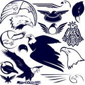 Eagle Collection — Stock Vector