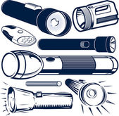 Flashlight Collection — Stock Vector