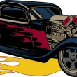 Fiery Custom Street Rod — Stock Vector #38098011