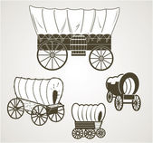Covered Wagons — Stock Vector