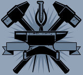 Blacksmith Crest — Stockvector