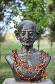 圣雄甘地的半身像 — 图库照片
