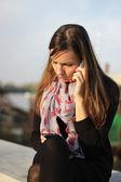 Modern communication addict — Stock Photo