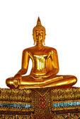 Estátua de Buda isolada — Fotografia Stock