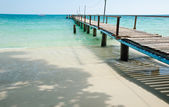 Wood jetty at koh samet in thailand — Stock Photo