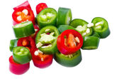 Pepper pieces — Stock Photo