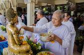 Songkran festival tradition of thailand — Stock Photo
