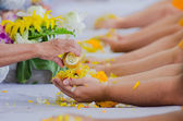 Songkran festival tradition of thailand — Stock Photo