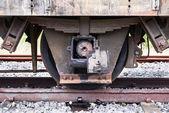 Train axles — Stock Photo