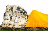 Socha ležícího buddhy — Stock fotografie