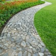 The stone block walk path — Stock Photo