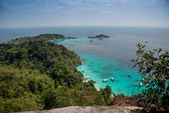 Incredible Aereal View of Tropical Turouise Beach at Similan Isl — Stock Photo