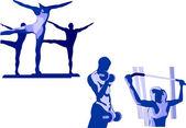 Fitnes — Stock Vector