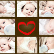 Newborn collage — Foto Stock #39362473