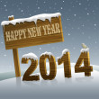 Happy New Year 2014 — Stock Photo #33702537