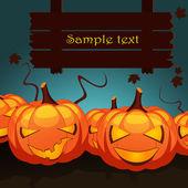 Halloween achtergrond. — Stockfoto
