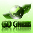 Go Green 3D — Stock Photo