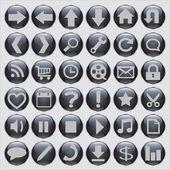 Mixed Web Buttons — Vector de stock