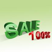 3D Sale — Stock Photo