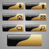 Gold & Black Buttons — Stock Vector