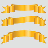 Gold Ribbons — Stock Vector