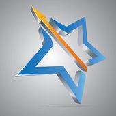 Star With Arrow — Stock Vector