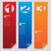 Vertikale papier nummeriert banner — Stockvektor