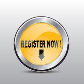 Registrovat nyní tlačítko — Stock vektor