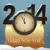 Yeni yıl tebrik kartı — Stok Vektör