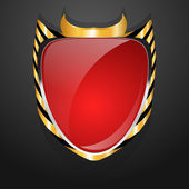 Red Shield — Stock Vector