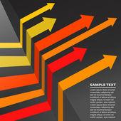 Arrow Background — Stock Vector