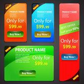Sale Banners Set — Stock Vector