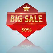 Big Sale Icon — Stock Vector