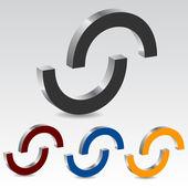 Cirkel ikonuppsättning — Stockvektor