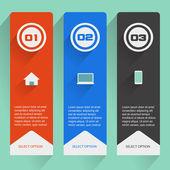 Flat Banner Design — Vetorial Stock